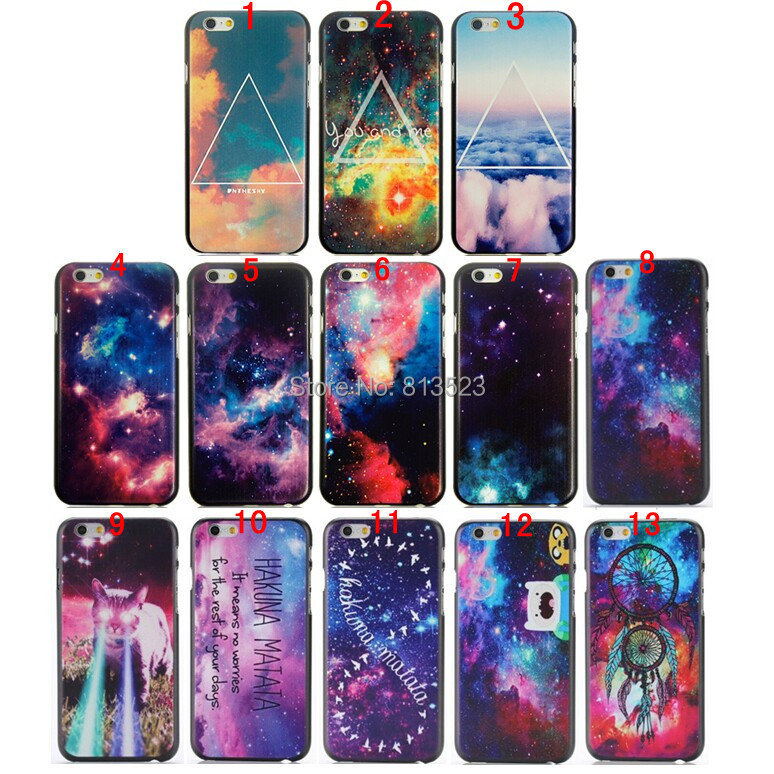 Beautiful Starry Sky Cosmic Space Triangle Hard Plastic Case Back Cover iPhone 4s 5c 5 5s SE 6 6s 7 Plus - WIN/WIN Store store