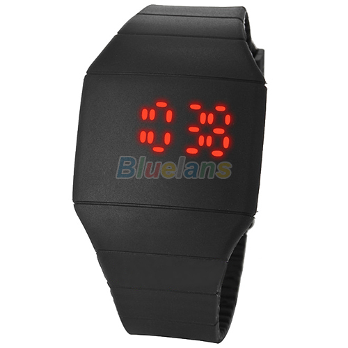 Sports Systemic Silicone Ultra-thin Multi-function Design Unisex Newest LED Watches 1J7K(China (Mainland))