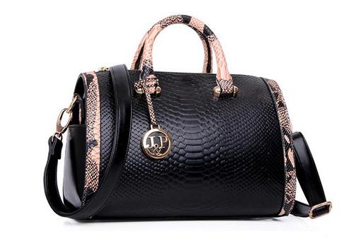 The new brand quality goods fashion bag Snakeskin grain female bag European and American fashion crocodile grain handbag(China (Mainland))