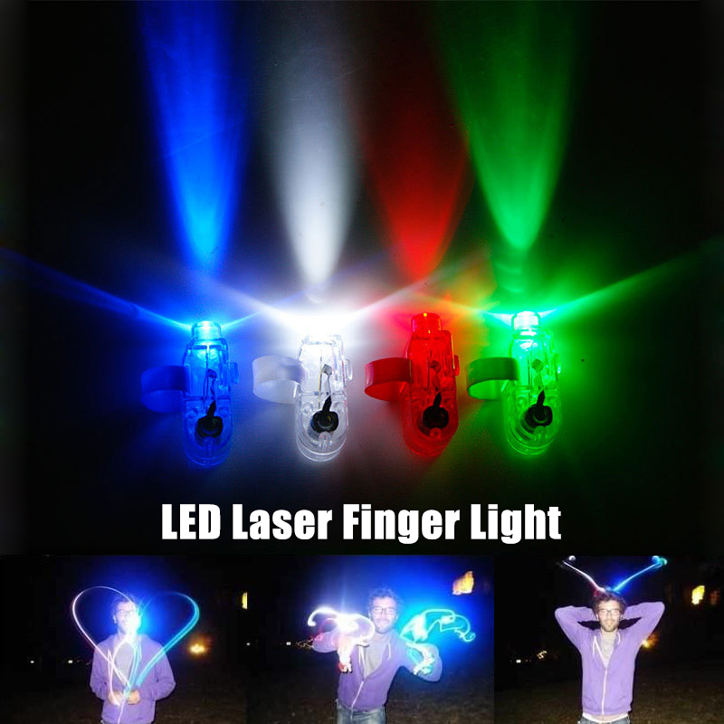 4PCS 4 Colors LED Laser Finger Light Ring Lights Lamps Beam Fun Toys For Party KTV Bar Best Gifts For Boys Girls Kids Children(China (Mainland))