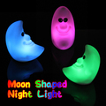 New Fashion LED Night Lamp Energy Saving Colorful Moon Shaped Night Light for Baby Bedroom