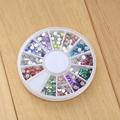 New Nail Art Acrylic Tips Display Wheel Board Useful Transparent Natural Hot High quality Free shipping