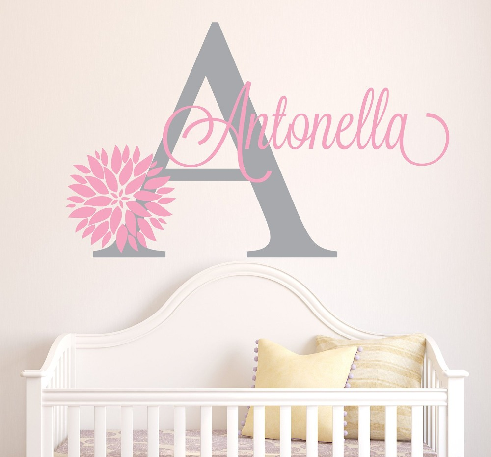 Personalized Bedroom Wall Decor : Three minnie mouse wall sticker custom name home girls