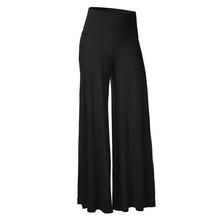 Casual Palazzo Pants Women Black Slim High Waist Flare Career OL Loose Wide Leg Pant Long Trousers Pantalones 10(China (Mainland))