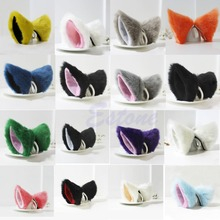 J34 Free Shipping Orecchiette Party's Cat Fox Long Fur Ears Anime Neko Costume Hair Clip Cosplay(China (Mainland))