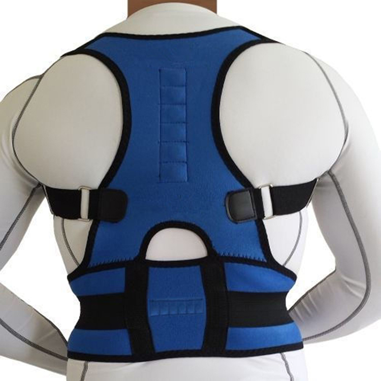 Neoprene Magnetic Adjustable Posture Corrector Back Lumbar Shoulder Support Belt X023(China (Mainland))