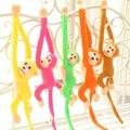 70cm Lovely Curtains Baby Sleeping Appease Animal Long Arm Tail Monkey Stuffed Doll Plush Toys Birthday
