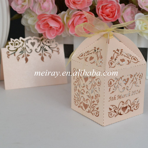 50pcs unique new products 2016 innovative product ideas for wedding baby gift favors box(China (Mainland))