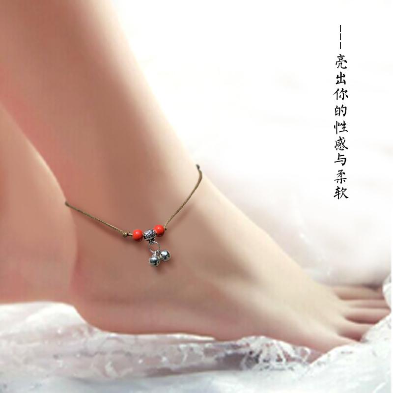 [ 5.23 ] lotus feet Handmade original fashion anklet manufacturers boutique wholesale supply wholesale flea market(China (Mainland))