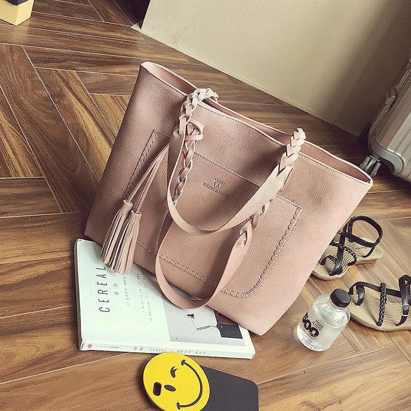 2016 summer new tassel big bag fashion trend ladies bag leisure large capacity shoulder bag handbag free shipping(China (Mainland))