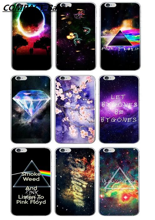 Beautiful Starry Sky Cosmic Space Triangle Design Ultrathin Soft TPU case For Iphone 6 6S 6Plus I6 5 5S SE Cover Capa Bargain(China (Mainland))