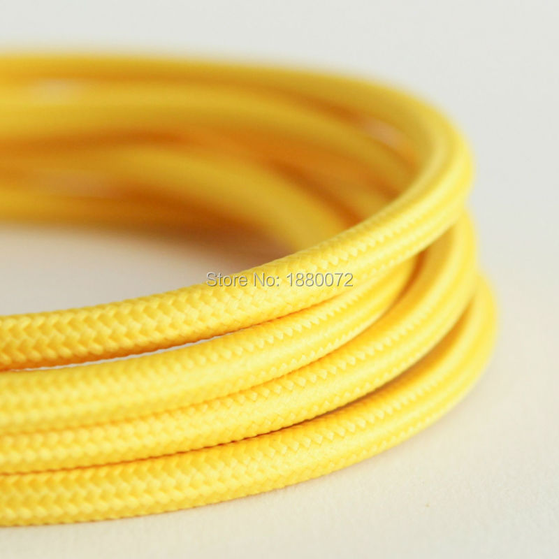 Free shipping vintage textile fabric electrical wire antique cloth covered braided cable 3 core2*0.75mm(China (Mainland))