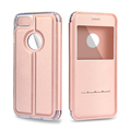 For iPhone 7 Case iVAPO Touch Series View Window Folio Flip PU Leather Case Magnetic Closure
