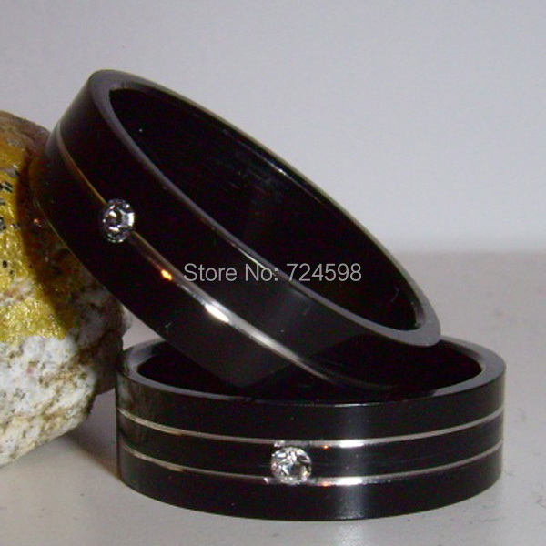 New Design Stainless Steel Black Color Men's Rings Dia mond Mixed Size Sale - Super Club Store store