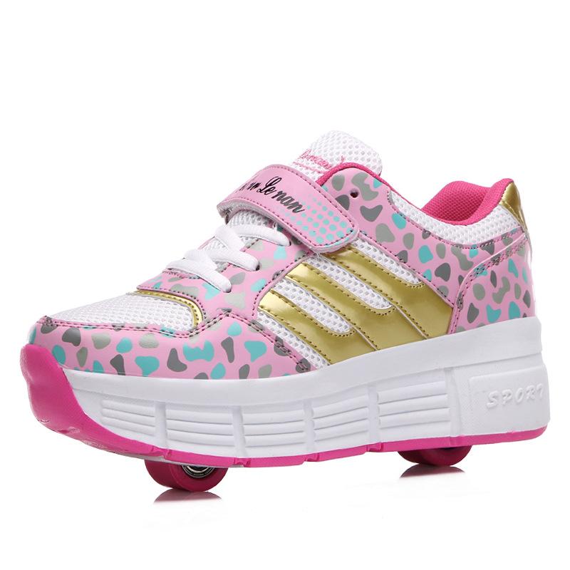 Children Heelys Sneakers 2 Wheels New Fashion Kids Roller Skate Shoes Boys Girls Sport Wheel 8633 - Allin Store store