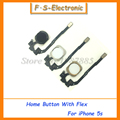 10pcs lot New Home Button Sensor Ribbon Flex Cable Complete Assembly Spare Part Replacement for iPhone