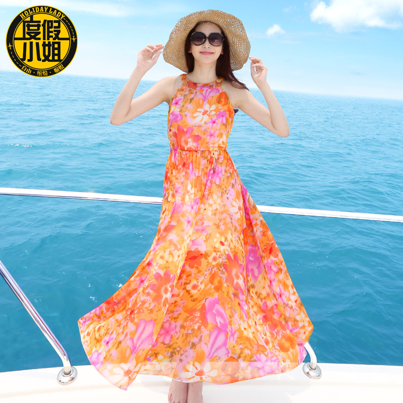 Suspender skirt 2015 female summer one-piece dress bohemia beach plus size full - jacket .jackets store