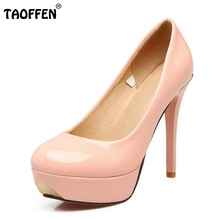 Buy Size 34-43 Ladies High Heels Shoes Women Platform Thin Heels Pumps Round Toe Fahion Wedding Party Shoes Soft Thin Heels Footwear for $28.09 in AliExpress store