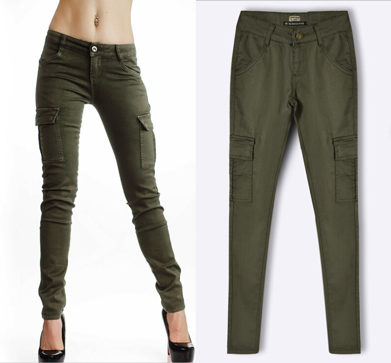 Compare Prices on Army Green Jeans Pants Women- Online Shopping ...