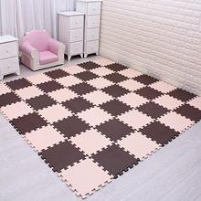 MQIAOHAM детский коврик-головоломка из пены EVA, 18 шт./лот, черно-белая плитка для упражнений, напольный ковер и коврик для детей(China)