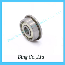 Free Shipping !10 pcs/lot  flange bushing ball bearings F604ZZ 4*12*4 mm