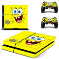 SpongeBob Skin Vinyl Skins Sticker for Sony PS4 PlayStation 4 and 2 Controllers Skins Cover GCTM0101