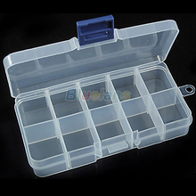 New Storage Case Box 10 Compartment for Nail Art Tips Sundeies Jewelry 0228