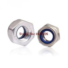 Buy Free 50pcs/lot Metric DIN985 M6 304 Stainless Steel Hex Head Nylon Insert Lock Nuts for $7.05 in AliExpress store