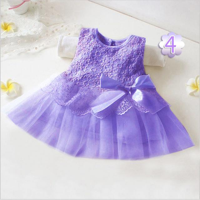 Милая девушка дети цветов принцессы ну вечеринку кружевном платье платье свадебное платье выпускного вечера с бантом платье