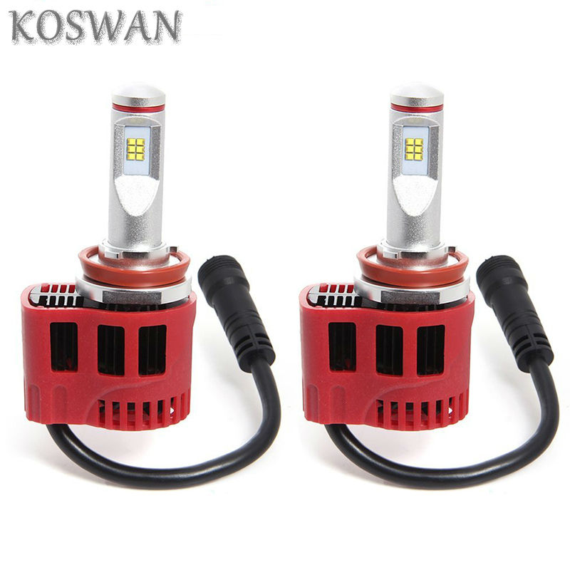 2 X 6000K White H11 90W Philip LED Car Headlight Beam Conversion Light Bulbs Kit P6 High Quality H11 LED Headlamp Bulb 9000LM(China (Mainland))
