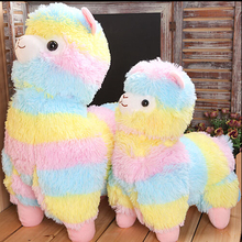 35cm Rainbow Alpaca Plush Toy Vicugna Pacos Japanese Soft Plush Alpacasso Sheep Llama Stuffed Toy Gifts for kids and Girls(China (Mainland))