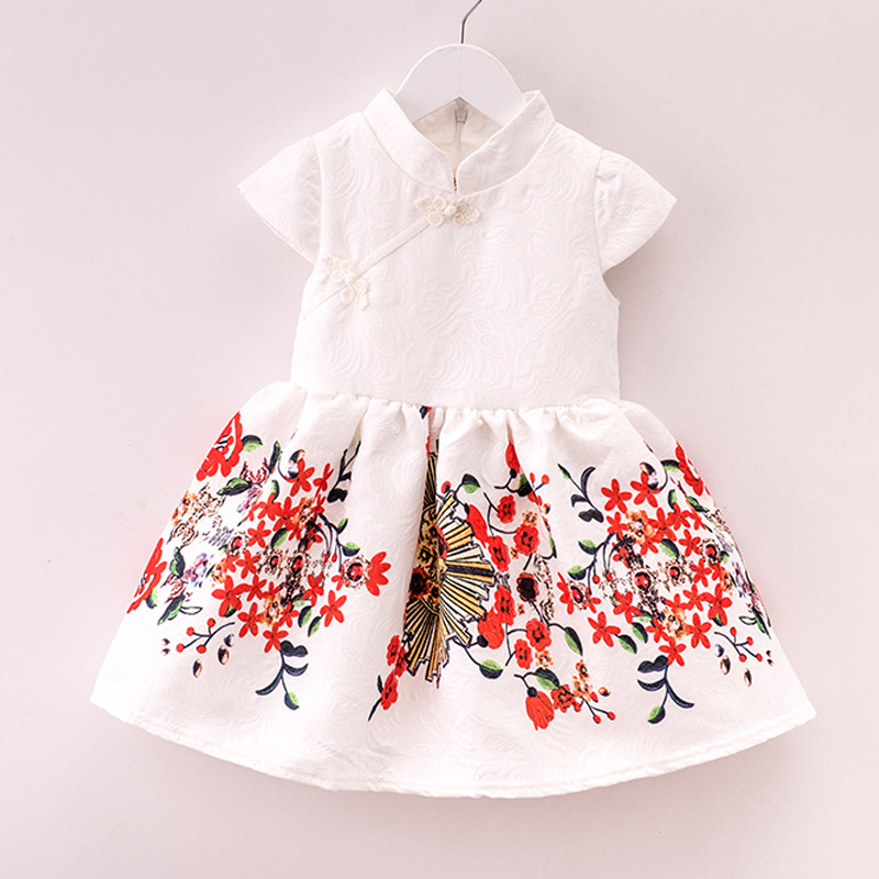 2016 Fashion Style new summer Girls dress children Floral pattern dresses for girl princess clothing<br><br>Aliexpress