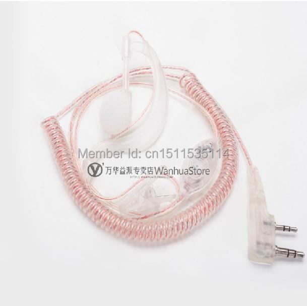 SIA 2Pin Security Earpiece Headset Mic Kenwood Baofeng HYT Radio Walkie Talkie Earphone  -  walkie talkie accessories store store