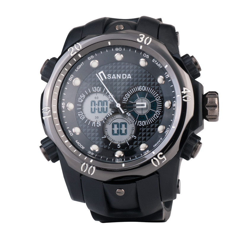 Fashion Digital watch SANDA military sport watches men luxury brand LED watch men quartz waterproof relogio masculino(China (Mainland))