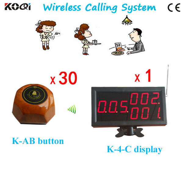 Restaurant System Pager Smart LED Display And 1key Call Button Waterproof(China (Mainland))