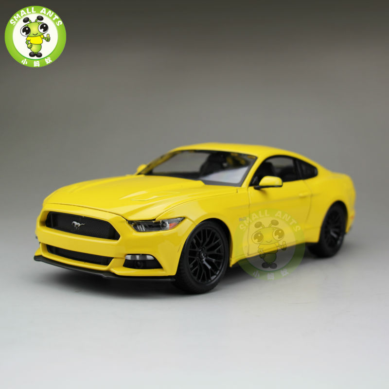 1:18 2015 Ford Mustang GT 5.0 diecast car model for gifts collection hobby Yellow maisto 31197(China (Mainland))
