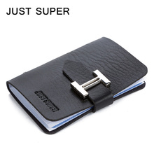 JUST SUPER New Men & Women Business Cards Wallet Simple PU Leather Credit Card Holder/Case Fashion Bank Cards Bag ID Holders(China (Mainland))