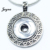 Hot Sale Snap Jewelry  Women Antique Alloy snaps buttons Pendant Necklace for ginger snaps buttons Jayna Jewelry GS1203008