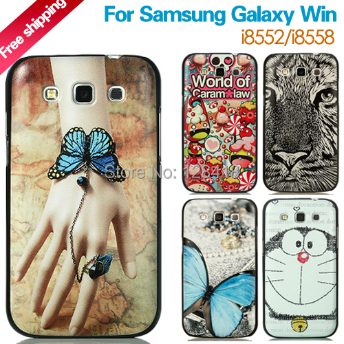 2016 NEW hot case samsung galaxy win gt-i8552 i8558 cartoon scrub cell phone ultra-thin back cover black edge - Mobile phone's lover store
