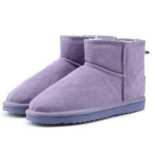 MBR KRAFT Australien Frauen Schnee Stiefel 100% Echtem Rindsleder Ankle Stiefel Warme Winter Stiefel Frau schuhe große größe 34 -44(China)