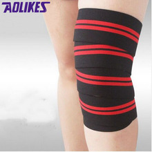 AOLIKES 2M*7.5CM powerlifting elastic bandage leg compression calf knee support wraps Sports Safety vendas para deporte dizlik