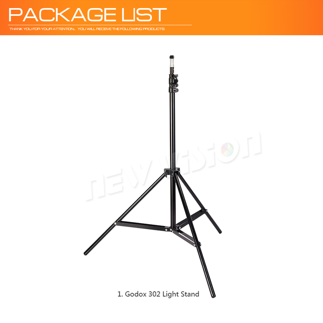 Godox Ajustable 302 2m Light Stand with 1/4 Screw Head Tripod for Studio Photo Vedio Flash Lighting 200cm