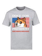 USA drapeau Doge pour président T-Shirts Pitbull Terrier Corgi chien drapeau T-shirts 3D 100% coton drôle t-shirt impression Top T-Shirts hommes(China)