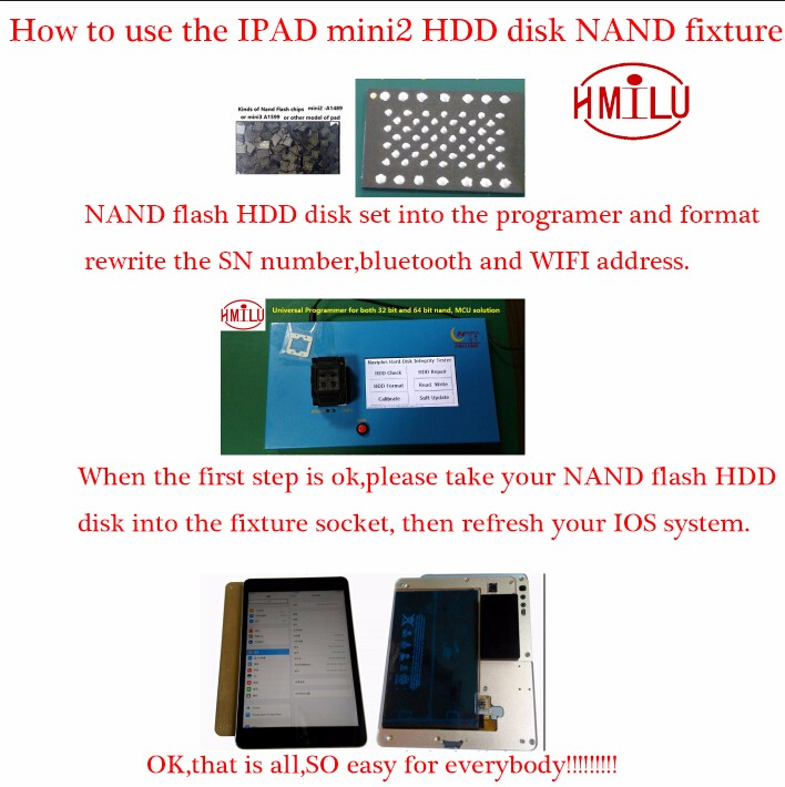 Non-removal adapter for ipad 3 4 for iPhone 6 6 plus adapter without change NAND by NAVI PLUS Pro3000s bypass remove iCloud