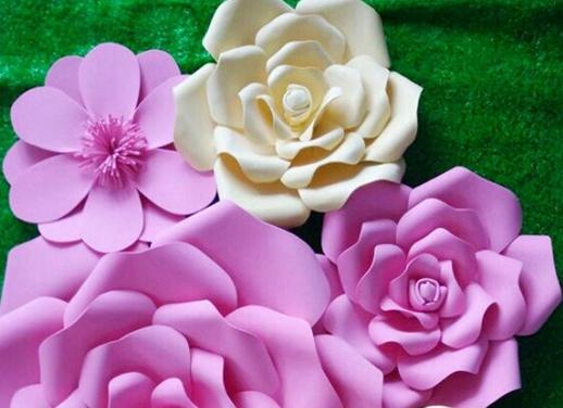 New Year decoration paper flowers large flowers to decorate the living room window wedding room handmade custom foam flower(China (Mainland))