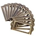 12Pcs set Antique Brass Metal Label Pull Frame Handle File Name Card Holder For Furniture Cabinet