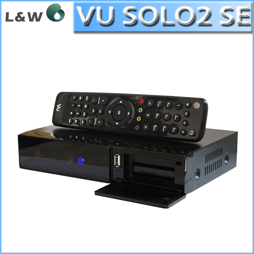 VU SOLO2 SE Linux Operating system Updated From Mini Vu Solo2 Twin DVB-S2 Tuners NEW ESATA Satellite TV Receiver Free Shipping(China (Mainland))