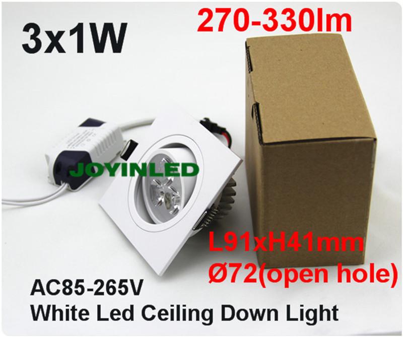 3W 6W 9W LED Ceiling downlight Epistar LED ceiling lamp White/Warm White Recessed Spot light 85V-245V for home illumination <br>