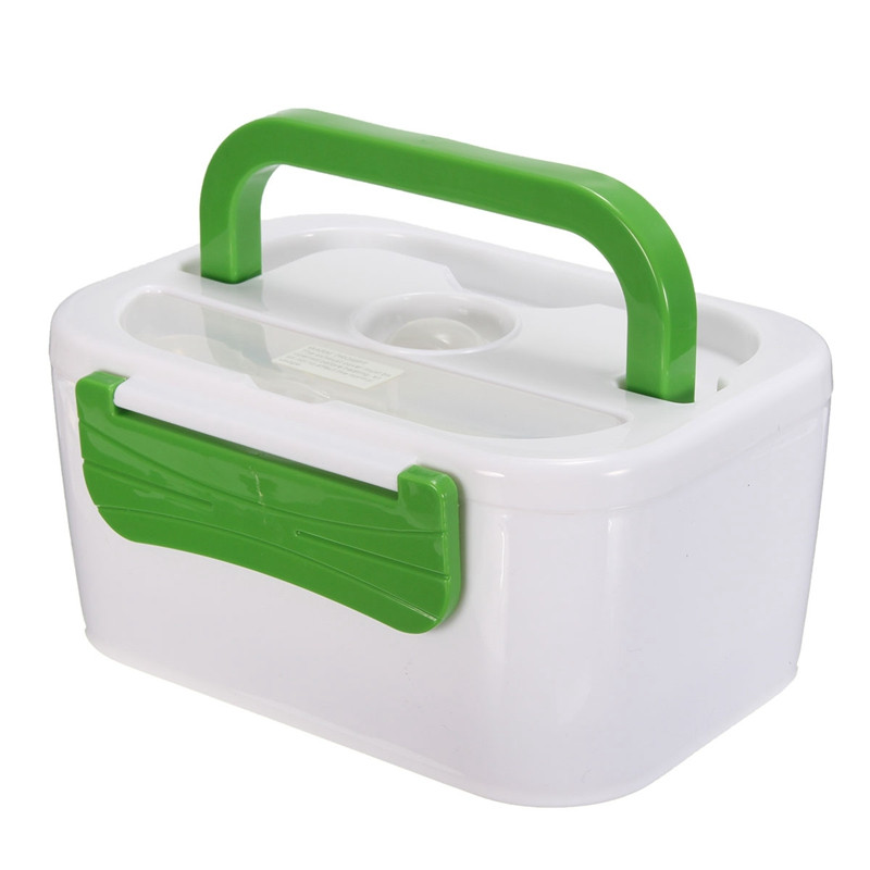 220V/110V/12V Portable Car Plug Heated Lunch Box Compact Electric Heated Lunch Food Warmer Box Bento Food Container 1050ML(China (Mainland))