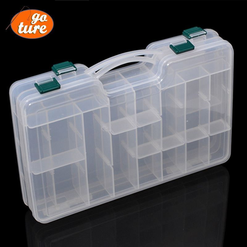 goture fishing tackle box plastic storage box for fishing